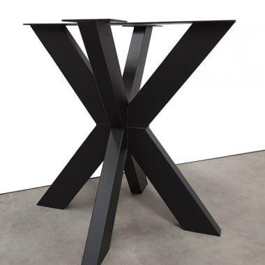 Tafelpoot / tafelpoten staal zwart gepoedercoat Matrix 10x5 cm (voor ronde tafelbladen)