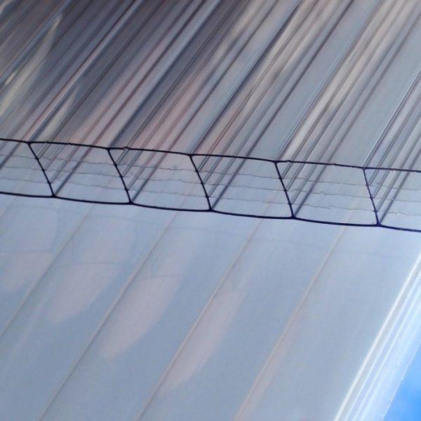 Polycarbonaat 16 mm helder 5-wandig 98x200 cm