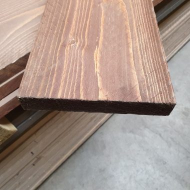 Steigerplank geborsteld bruin 30x200 mm 250 cm