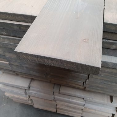 Steigerplank geborsteld vergrijsd 30x200 mm 250 cm