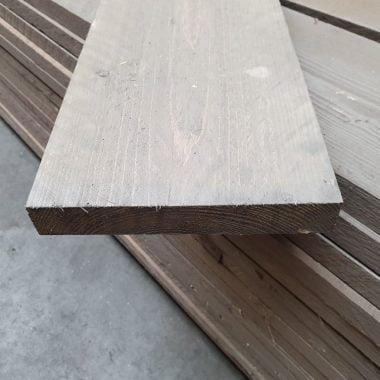 Steigerplank geborsteld zilver 30x200 mm 250 cm