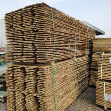 Schaaldeel geimpregneerd grenen 18x150/250 mm