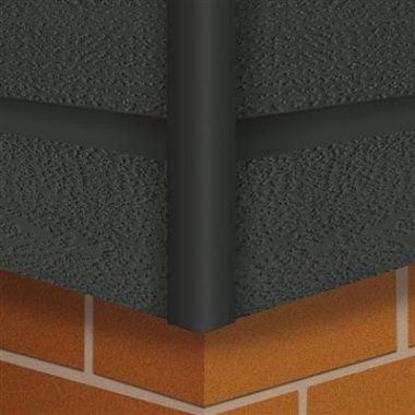 Vast hoekprofiel Antraciet 4x300 cm