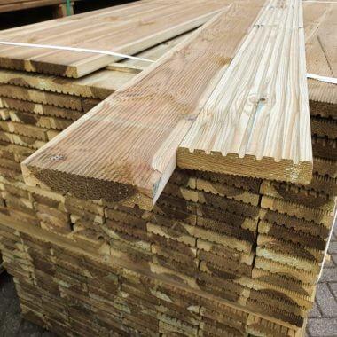 Vlonderplank geimpregneerd grenen 28x145 mm