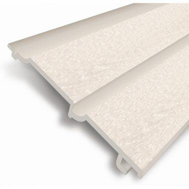 Volschuim PVC gevelbekleding gebroken wit 7 mm Dubbel Rabat