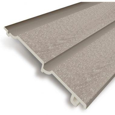 Volschuim PVC gevelbekleding lichtgrijs 7 mm Dubbel Rabat