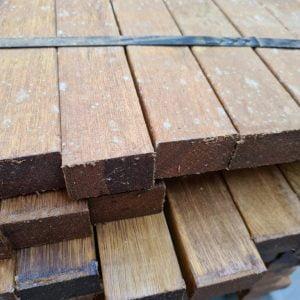 Hardhout regel / onderregel 40x60 mm