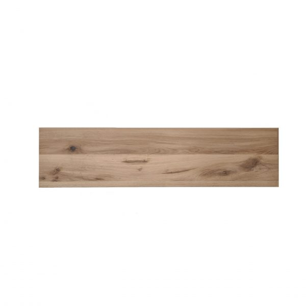 Massief eiken wandplank met rechte kant 40 mm