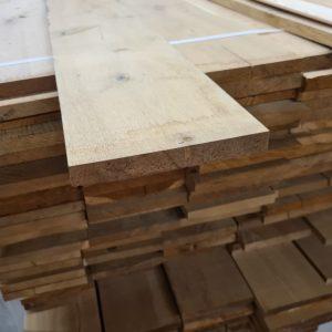 Massief eiken plank geschaafd 24x230 mm