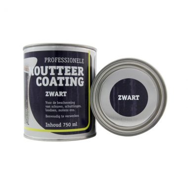 Houtteer coating zwart 750 ml, 2,5L en 5L