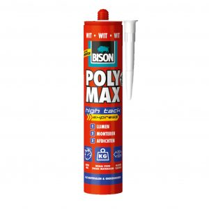 Bison poly max High Tack Express Wit 425g