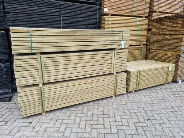 Tuinplank geschaafd geïmpregneerd grenen 16x145 mm