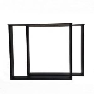Tafelpoot / tafelpoten staal zwart gepoedercoat U-poot 10x2 cm