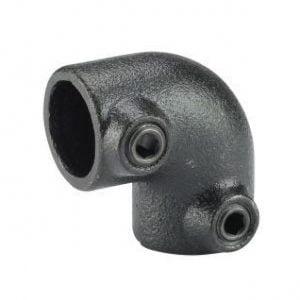 Koppelstuk zwart Ø28mm hoekstuk 90gr.