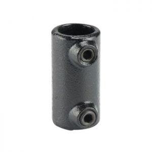 Koppelstuk zwart Ø28mm koppelverbinding (mof)
