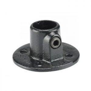 Koppelstuk zwart Ø28mm voetplaat rond