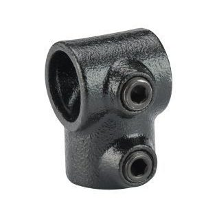 Koppelstuk zwart Ø28mm T-doorvoer
