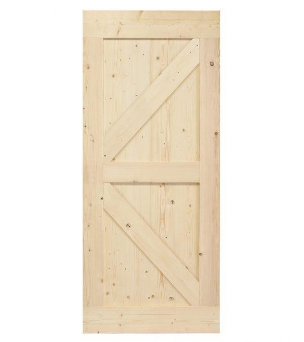 Loftdeur onbehandeld steigerhout British