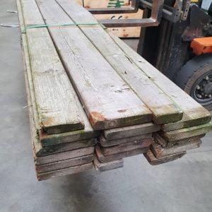 Partij brocante landelijke planken 25x140 mm 320 cm