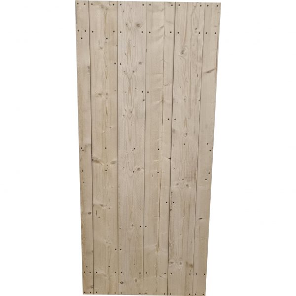 Loftdeur onbehandeld steigerhout 90x200 cm SD002