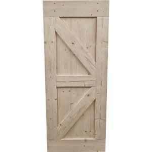 Loftdeur onbehandeld steigerhout 85x210 cm SD004