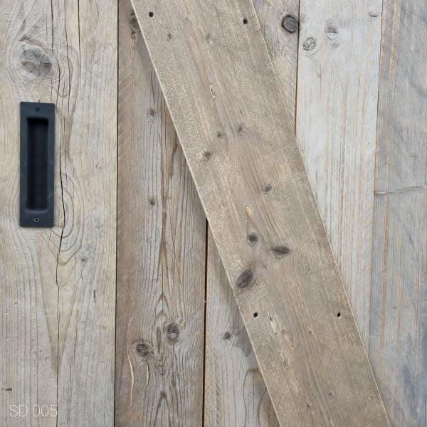 Loftdeur gebruikt steigerhout 85x210 cm SD005