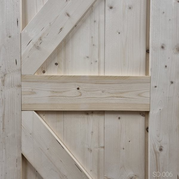 Loftdeur Gebruikt steigerhout 85x210 cm SD006