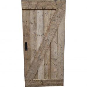Loftdeur gebruikt steigerhout 100x210 cm SD017