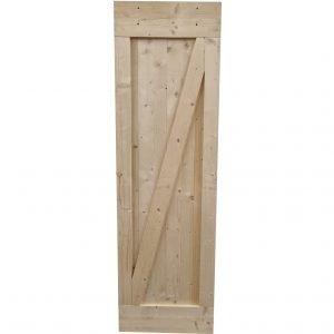 Loftdeur onbehandeld steigerhout 68x214 cm