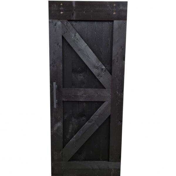 Loftdeur Steigerhout diep zwart 90x215 cm SD023