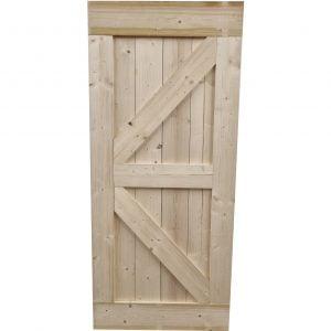Loftdeur onbehandeld steigerhout 95x215 cm SD024