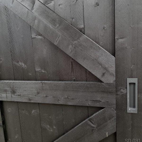 Loftdeur Steigerhout diep zwart 96x213 cm SD031