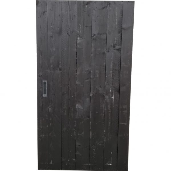 Loftdeur Steigerhout diep zwart 117x213 cm SD032