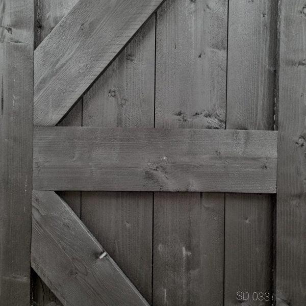 Loftdeur Steigerhout diep zwart 89,5x218,5 cm SD033