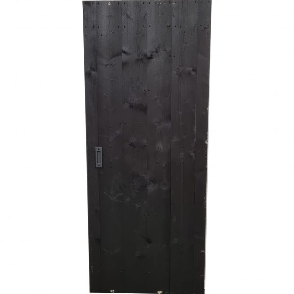Loftdeur Steigerhout diep zwart 90x220 cm SD034