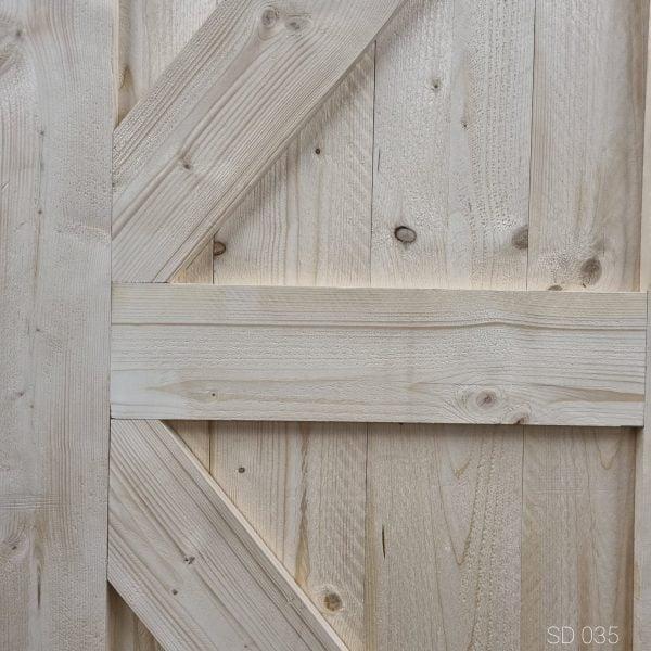 Loftdeur onbehandeld steigerhout 90x220 cm SD035