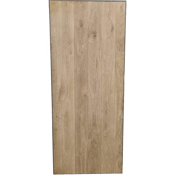 Loftdeur eiken met metalen profielen 100x240 cm SD042