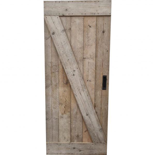 Loftdeur gebruikt steigerhout 90x218 cm SD022