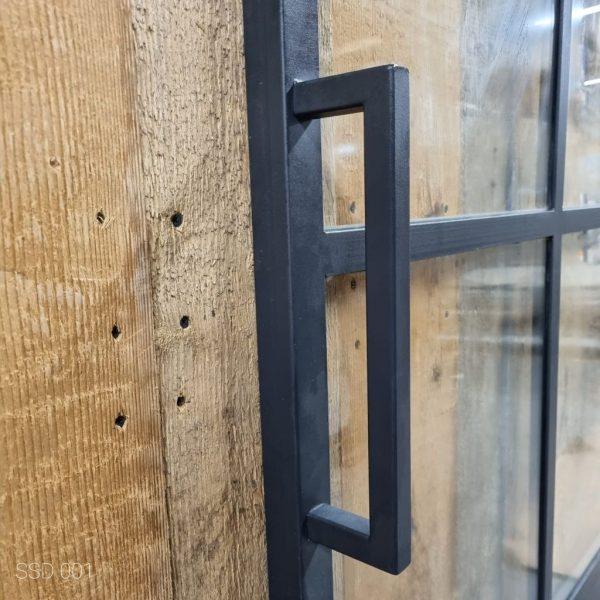 Loftdeur staal 6 vaks met kickplate 98x236 cm