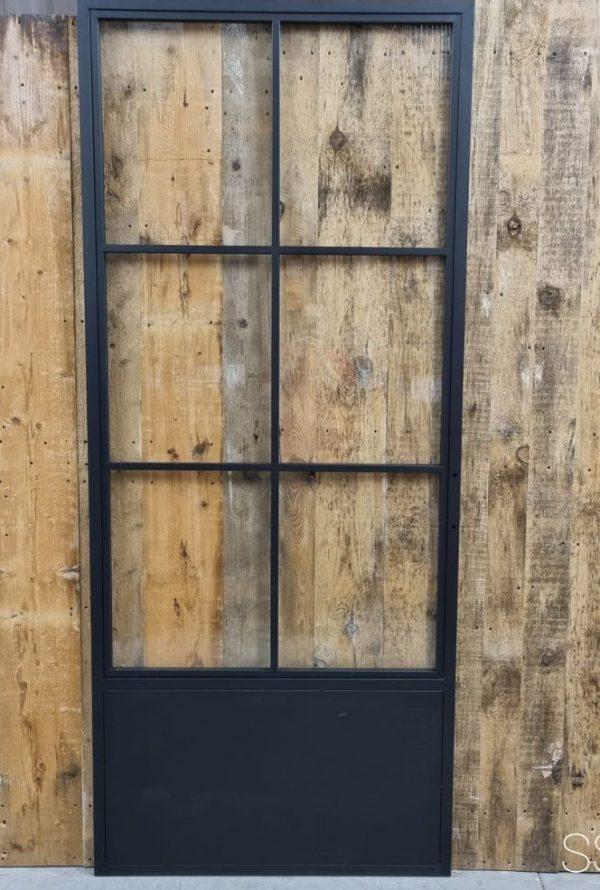 Loftdeur staal 6 vaks met kickplate 98x235 cm