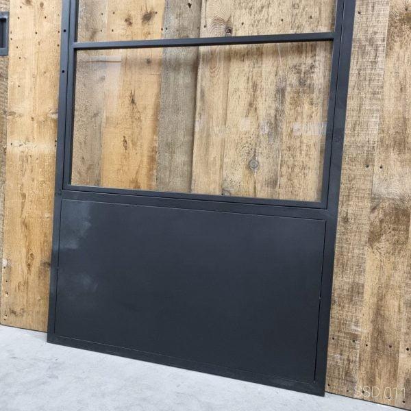 Loftdeur staal 3 vaks met kickplate 100x215 cm