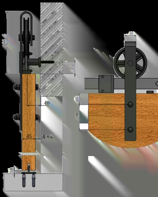 Schuifdeursysteem Spaakwiel
