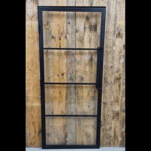 Stalen deur scharnierend in een stalen kozijn 4 vaks 93x215 cm